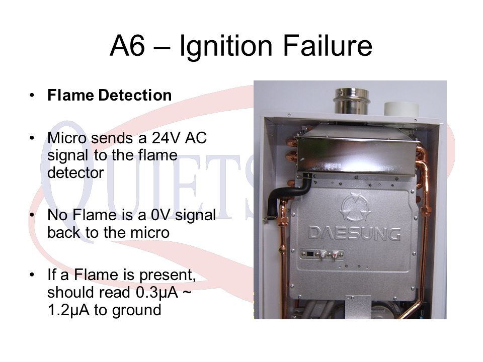 A6 – Ignition Failure Flame Detection