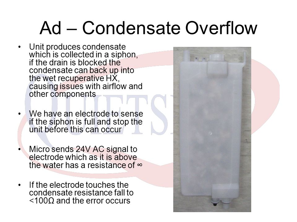 Ad – Condensate Overflow