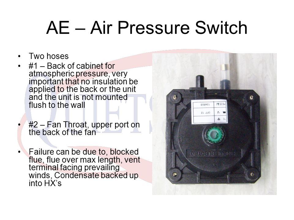 AE – Air Pressure Switch