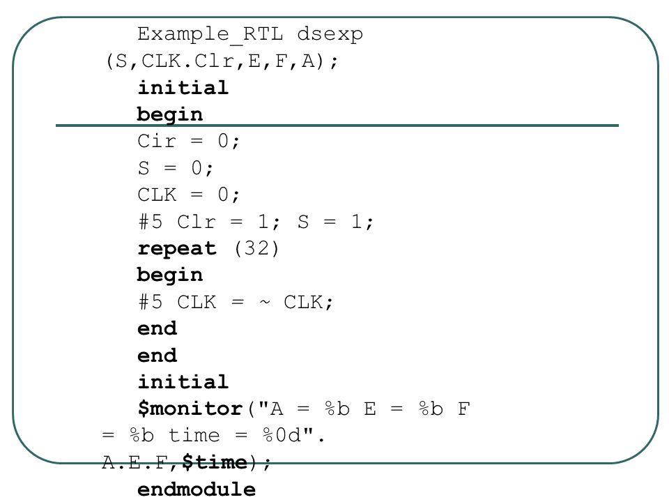 Example_RTL dsexp (S,CLK.Clr,E,F,A);