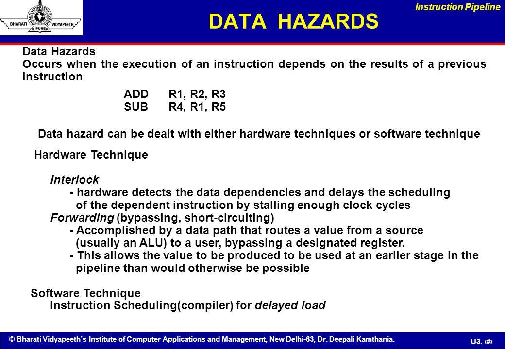 DATA HAZARDS Data Hazards