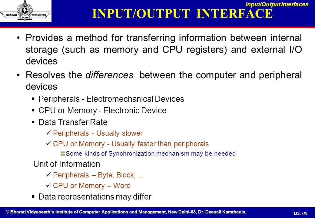 INPUT/OUTPUT INTERFACE