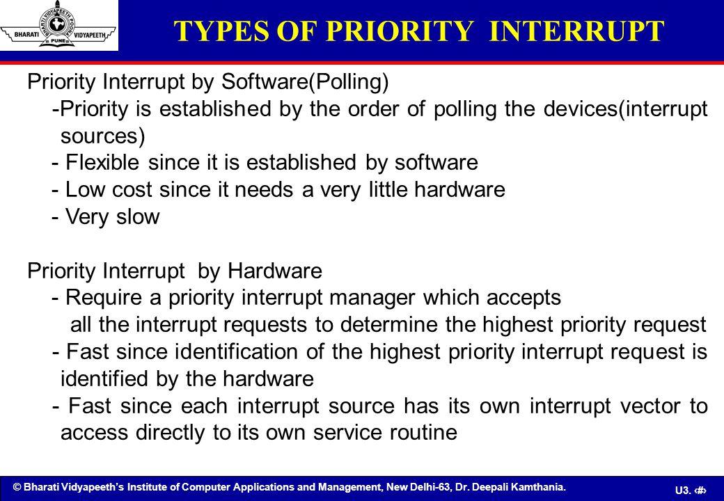 TYPES OF PRIORITY INTERRUPT