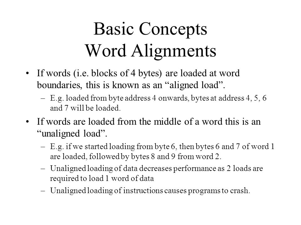Basic Concepts Word Alignments