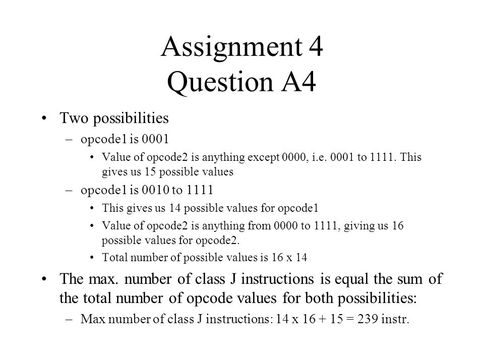 Assignment 4 Question A4 Two possibilities
