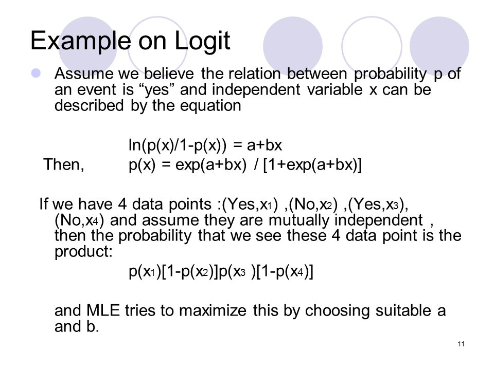 Example on Logit