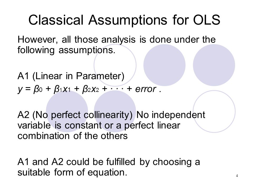 Classical Assumptions for OLS
