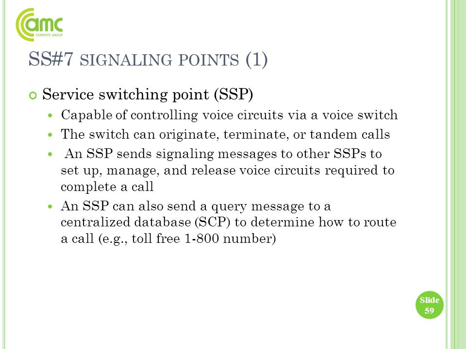 SS#7 signaling points (1)