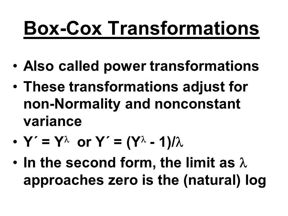 Box-Cox Transformations