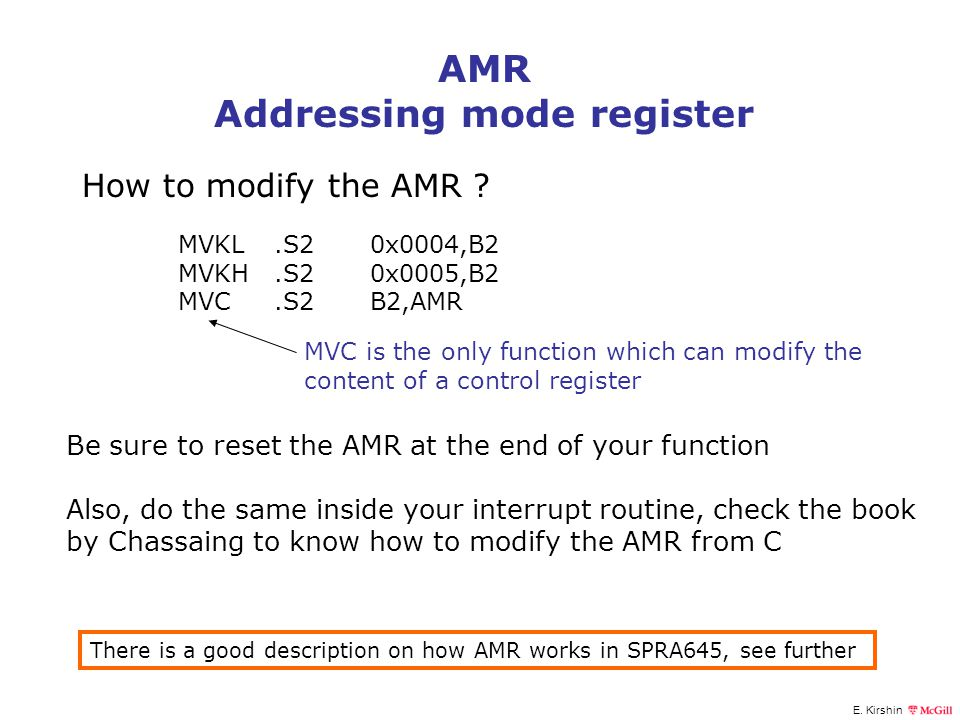 Addressing mode register