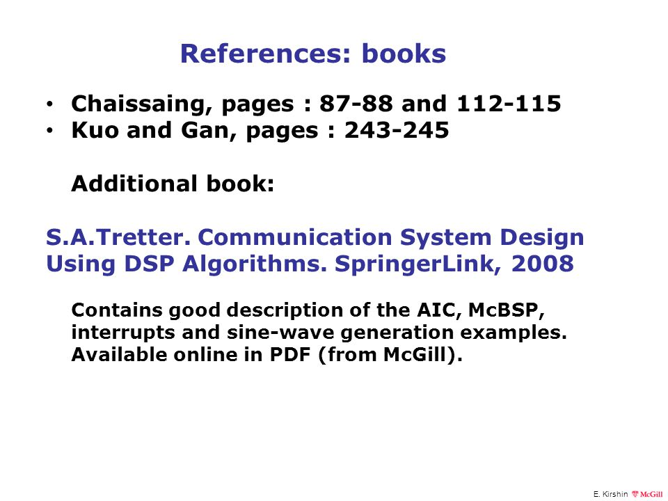 References: books Chaissaing, pages : 87-88 and 112-115