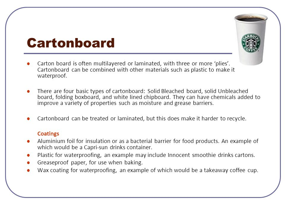 Cartonboard