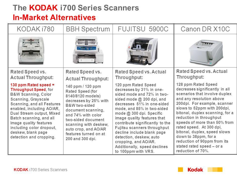 The KODAK i700 Series Scanners In-Market Alternatives