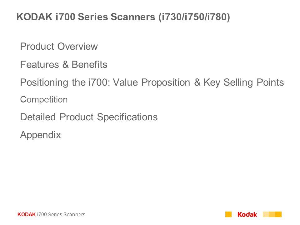 KODAK i700 Series Scanners (i730/i750/i780)