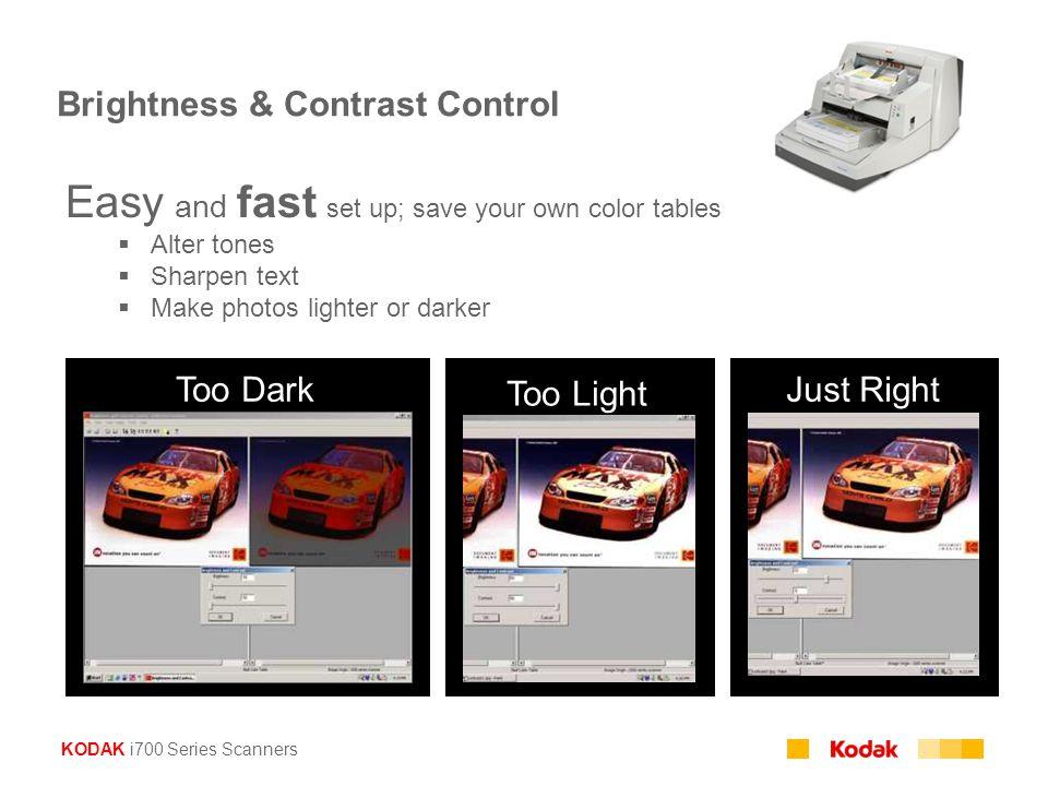 Brightness & Contrast Control