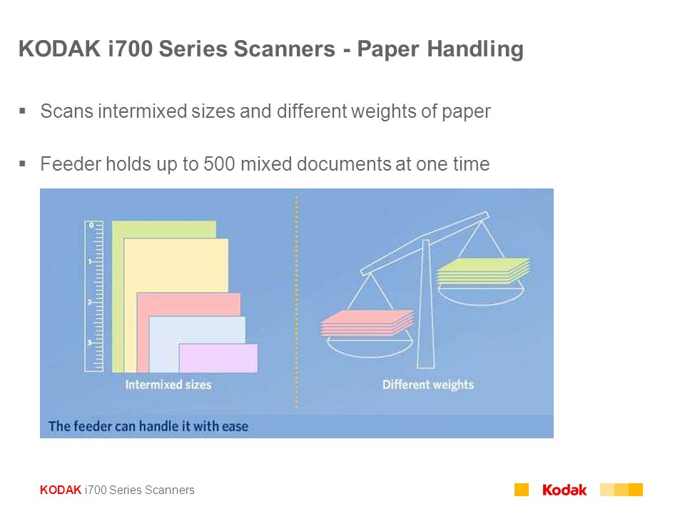 KODAK i700 Series Scanners - Paper Handling