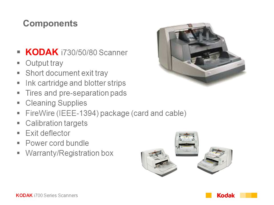 Components KODAK i730/50/80 Scanner Output tray