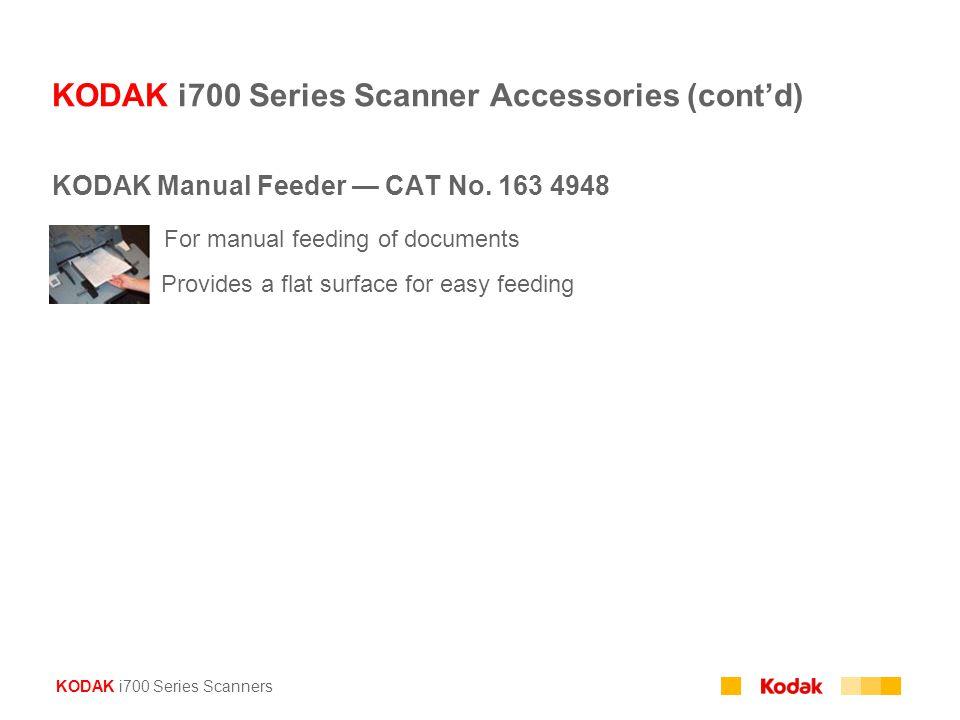 KODAK i700 Series Scanner Accessories (cont'd)