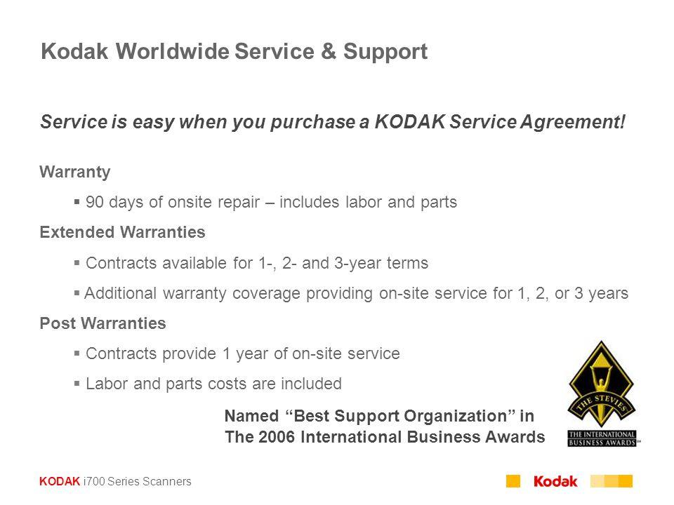 Kodak Worldwide Service & Support