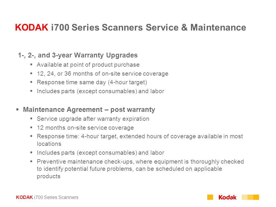 KODAK i700 Series Scanners Service & Maintenance