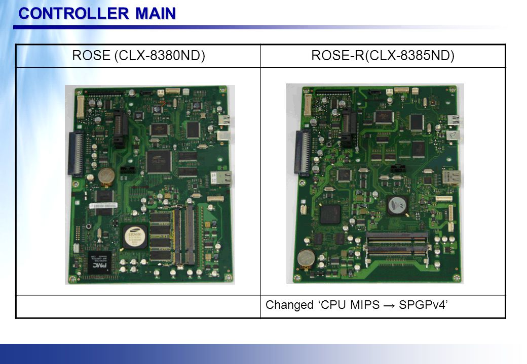 CONTROLLER ENGINE ROSE (CLX-8380ND) ROSE-R(CLX-8385ND)