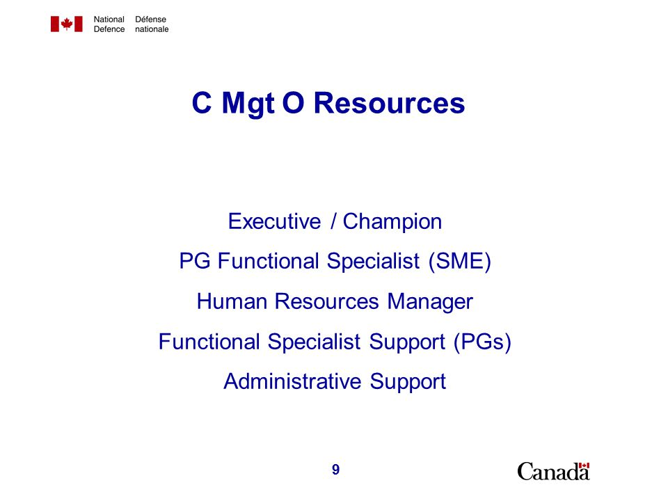 C Mgt Actions to support the Procurement Community