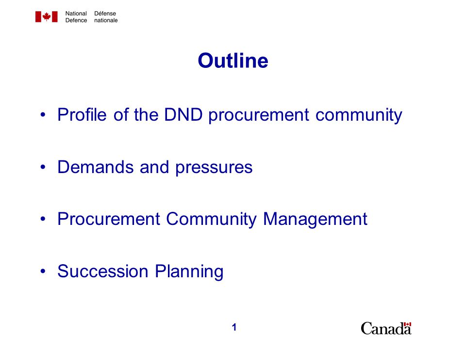 Profile of the Procurement Community in National Defence