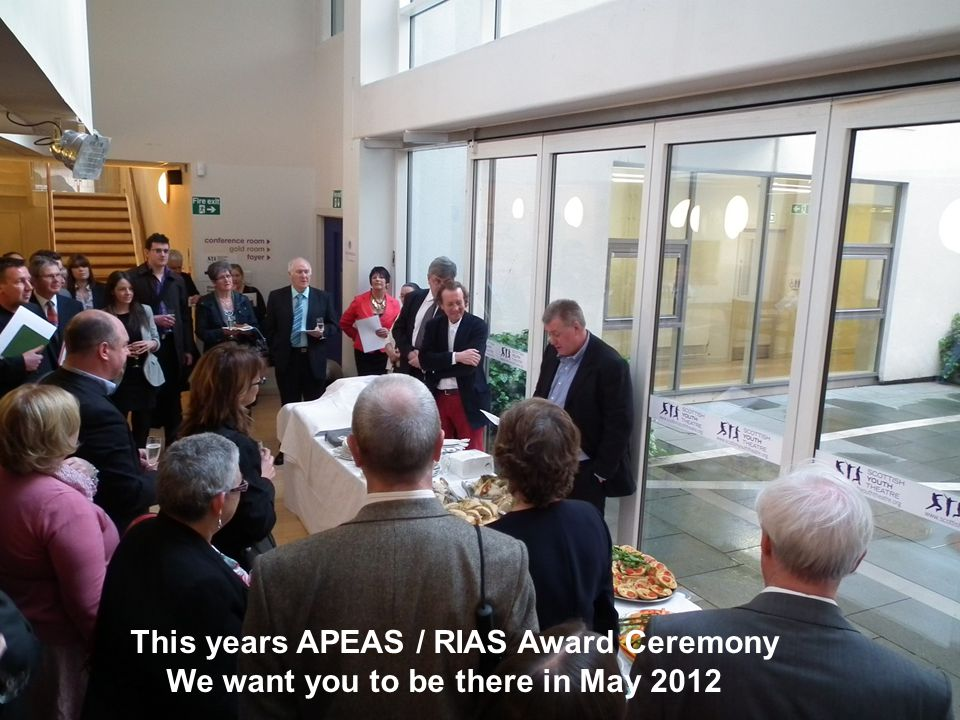 This years APEAS / RIAS Award Ceremony