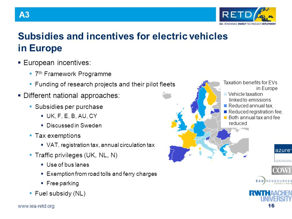 Subsidies and incentives for electric vehicles in Europe