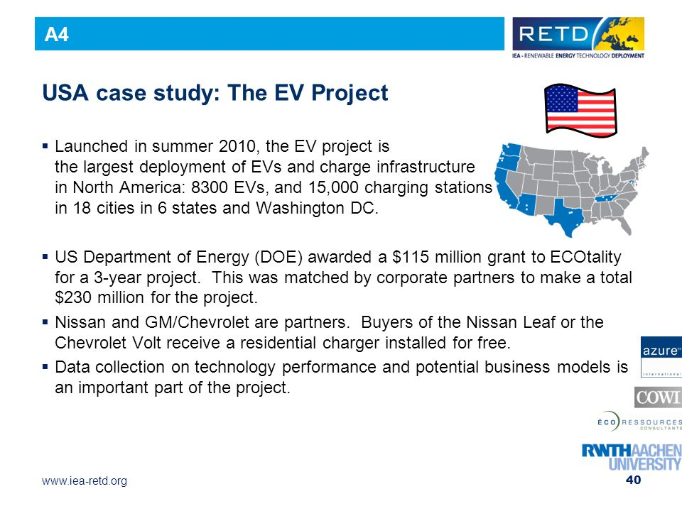 USA case study: The EV Project