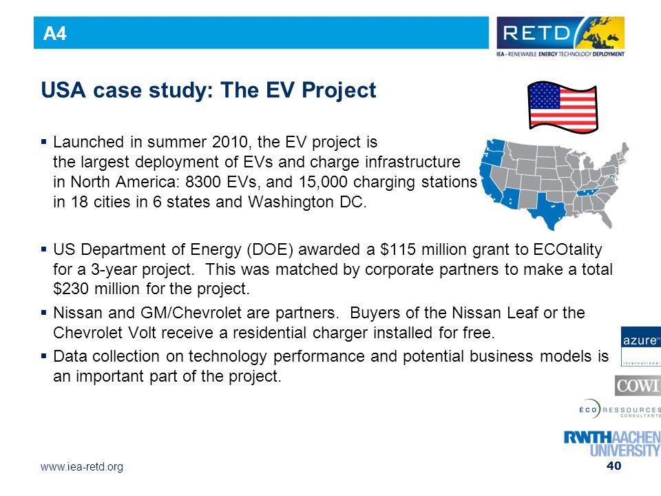 USA case study: The EV Project