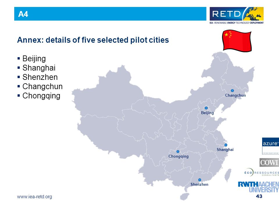Annex: details of five selected pilot cities