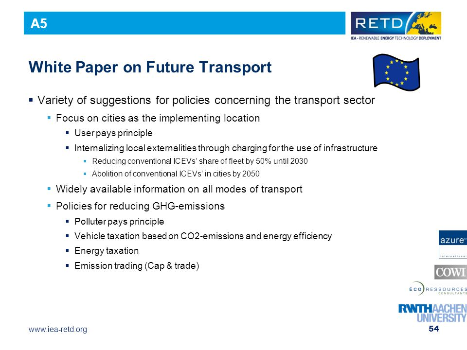 White Paper on Future Transport