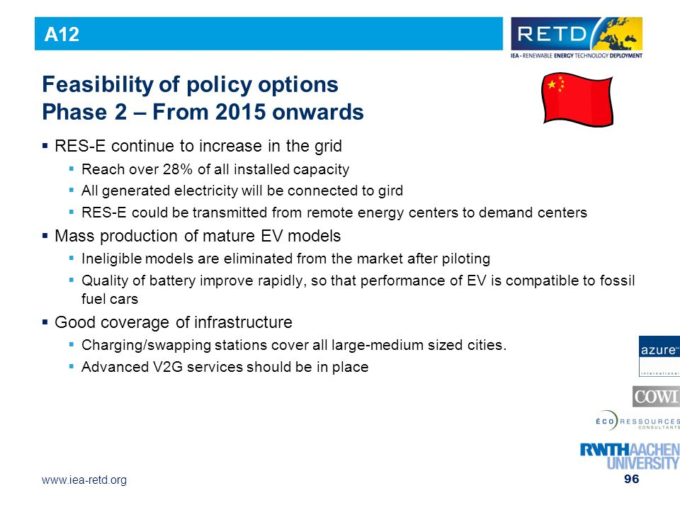 Feasibility of policy options Phase 2 – From 2015 onwards