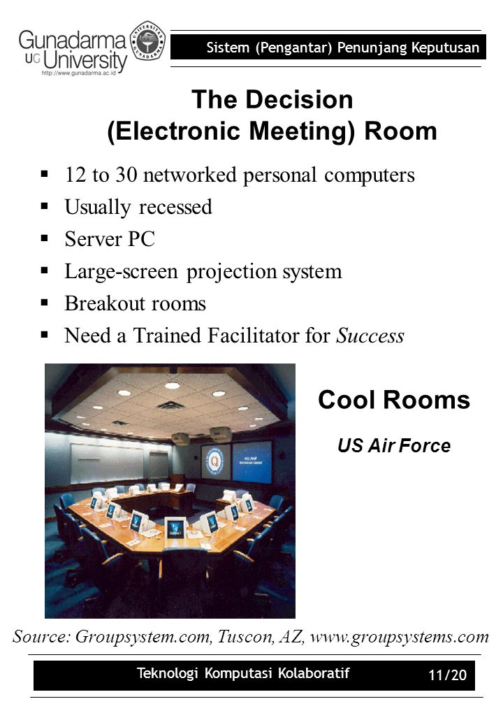 The Decision (Electronic Meeting) Room