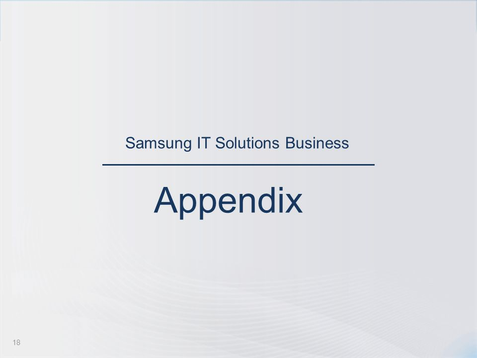 Samsung IT Solutions Business