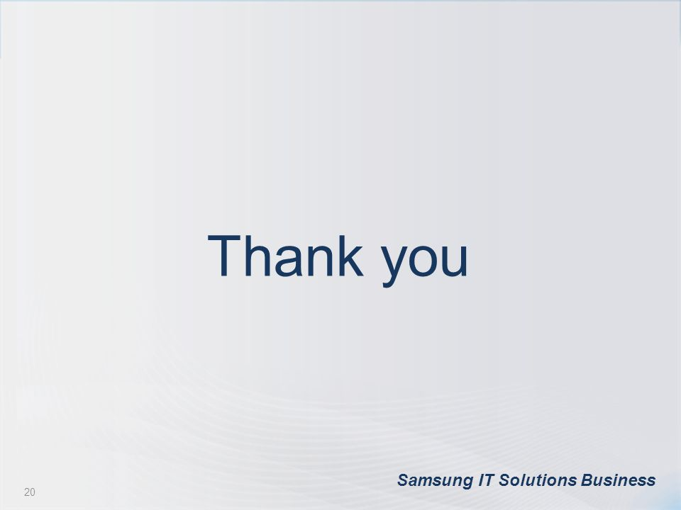 Thank you Samsung IT Solutions Business