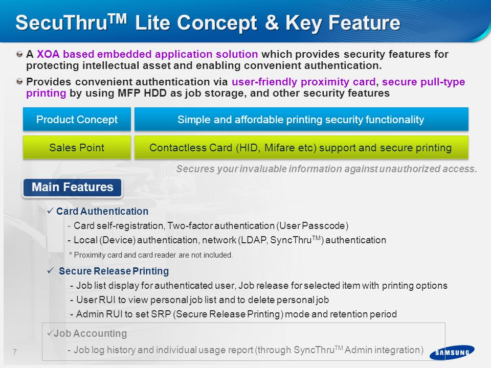 SecuThruTM Lite Concept & Key Feature