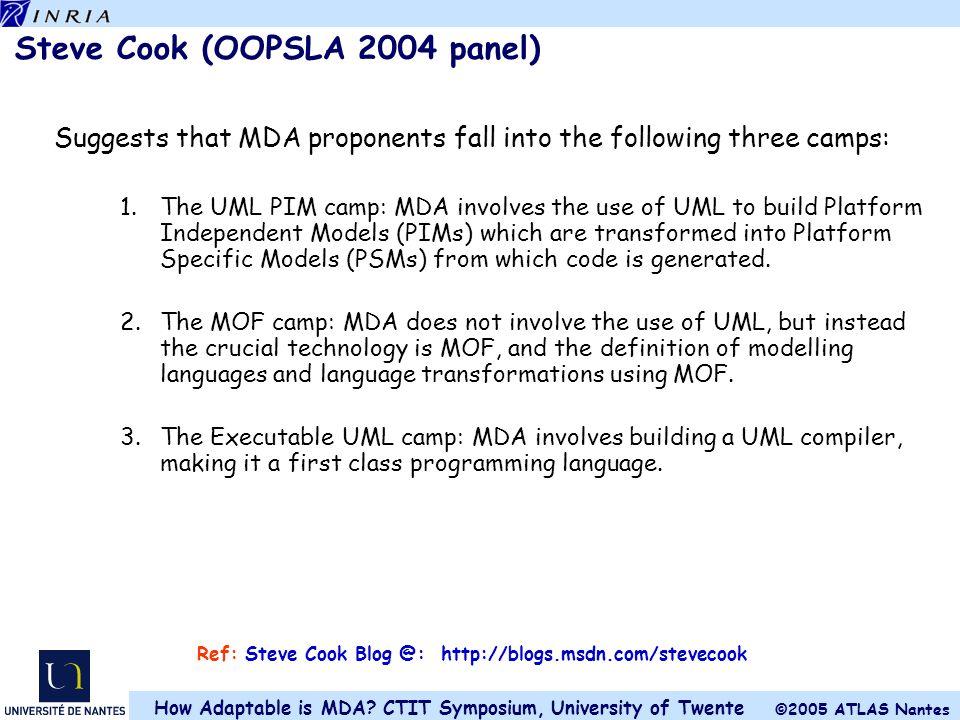 Steve Cook (OOPSLA 2004 panel)