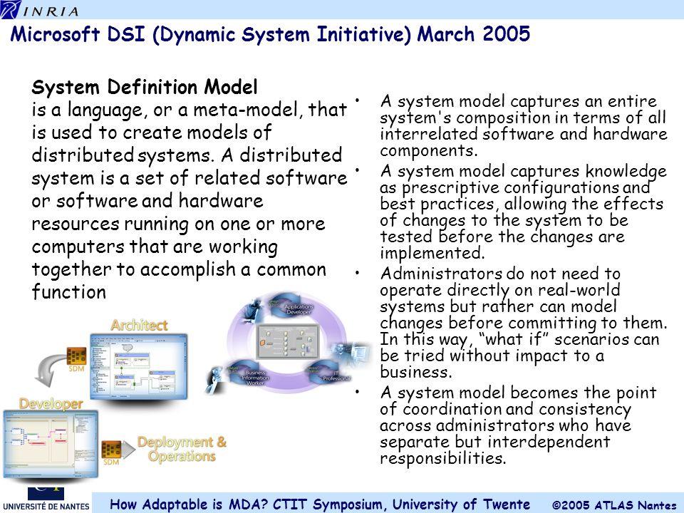 Microsoft DSI (Dynamic System Initiative) March 2005