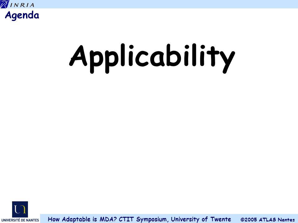 Agenda Applicability