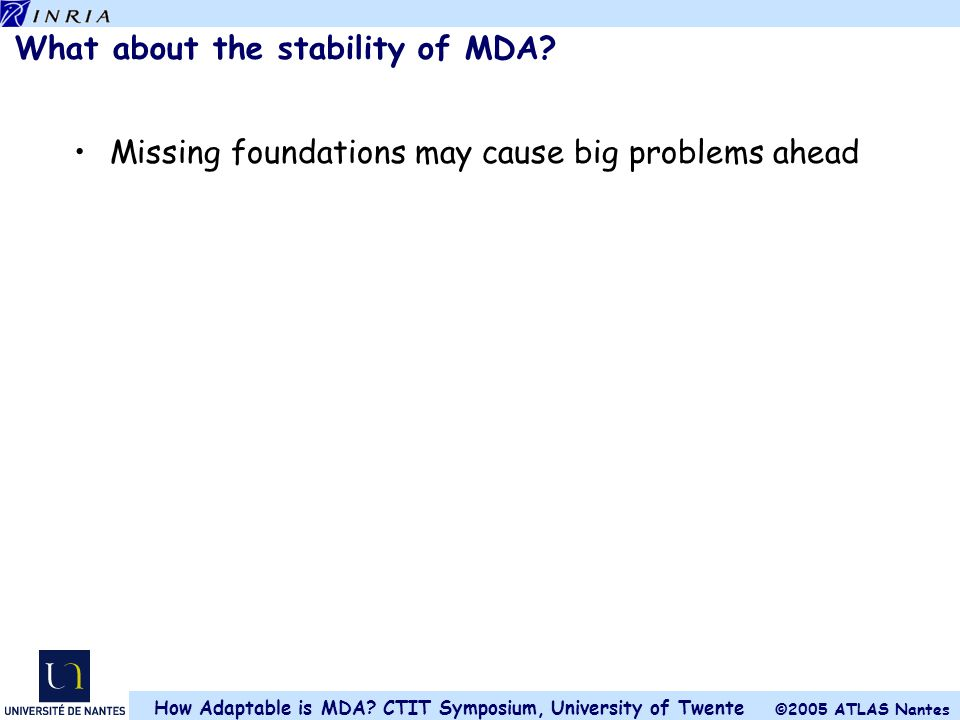 What about the stability of MDA