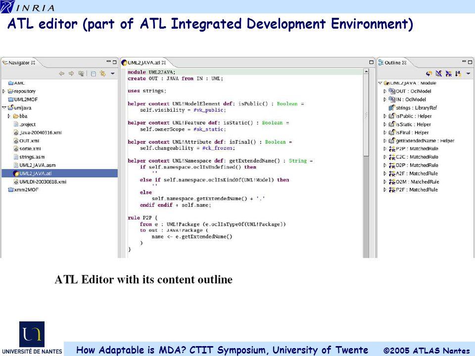 ATL editor (part of ATL Integrated Development Environment)