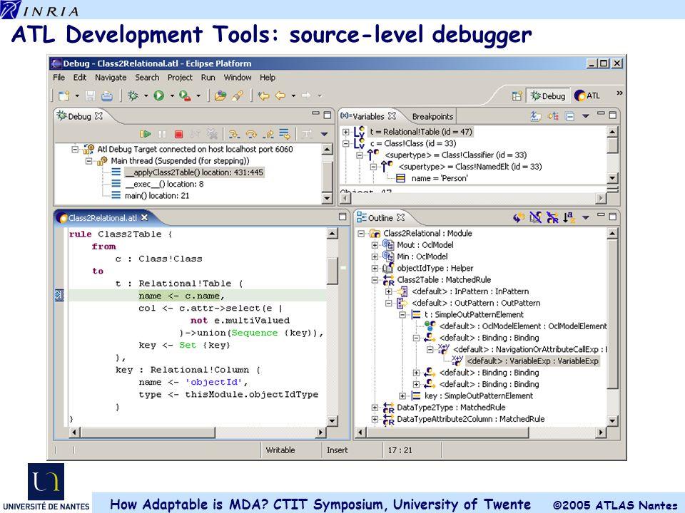 ATL Development Tools: source-level debugger
