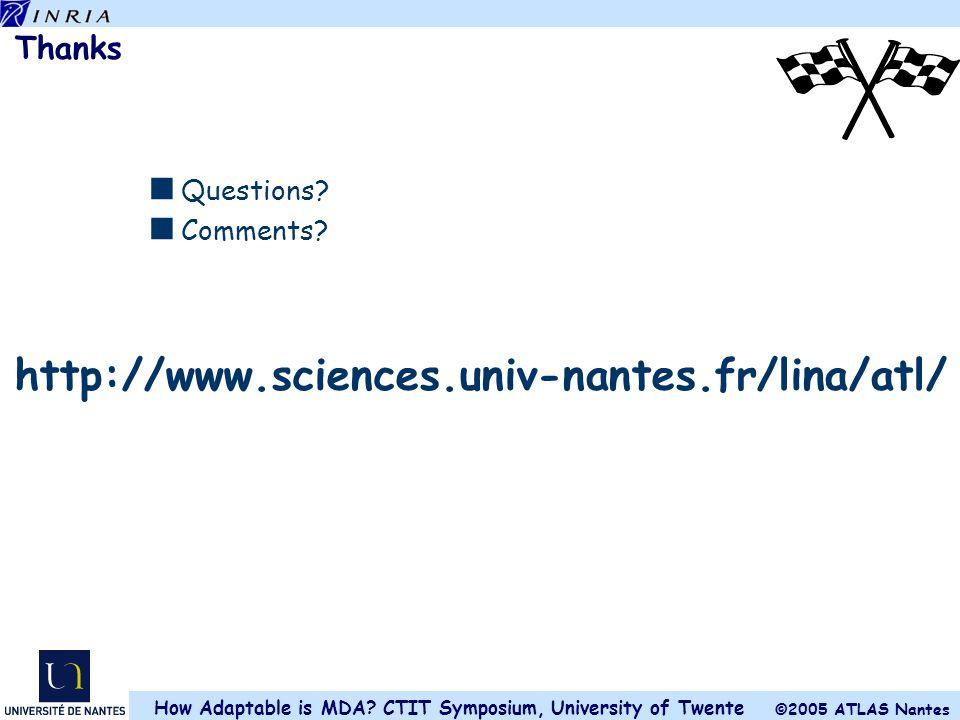 http://www.sciences.univ-nantes.fr/lina/atl/ Thanks Questions