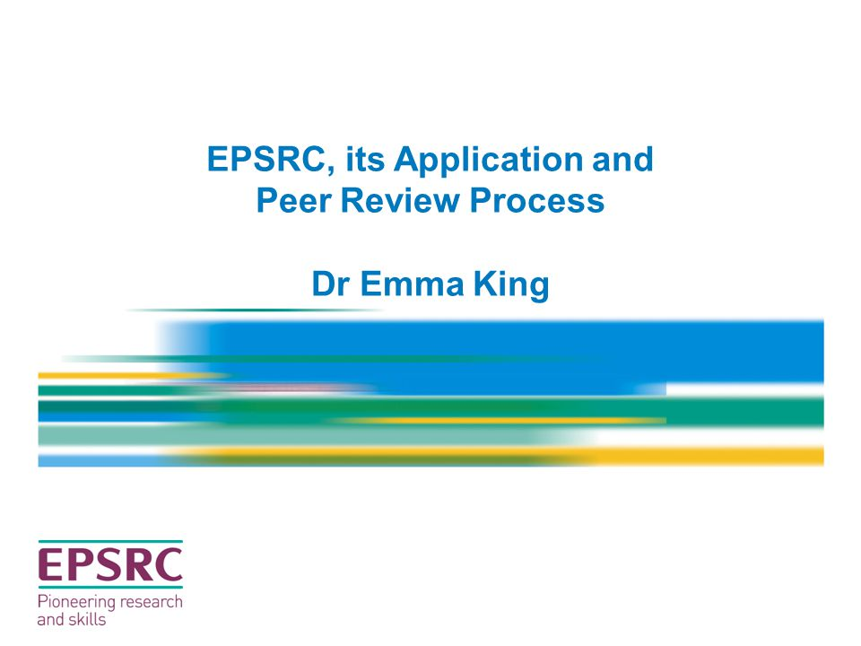 EPSRC, its Application and