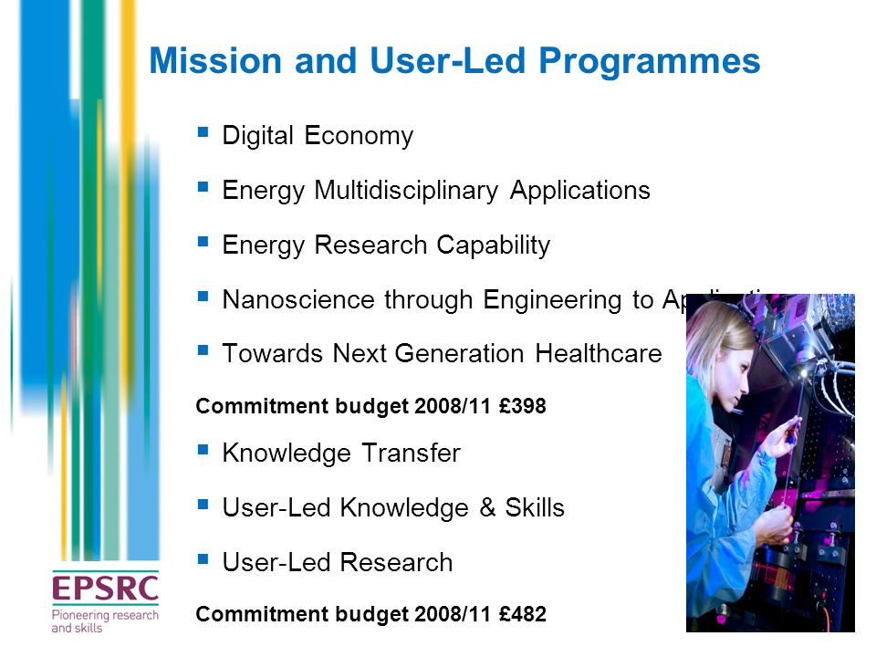 Mission and User-Led Programmes
