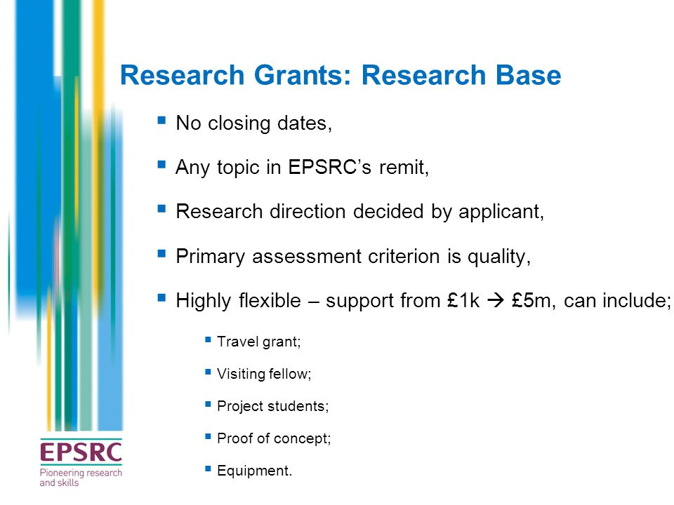Research Grants: Research Base