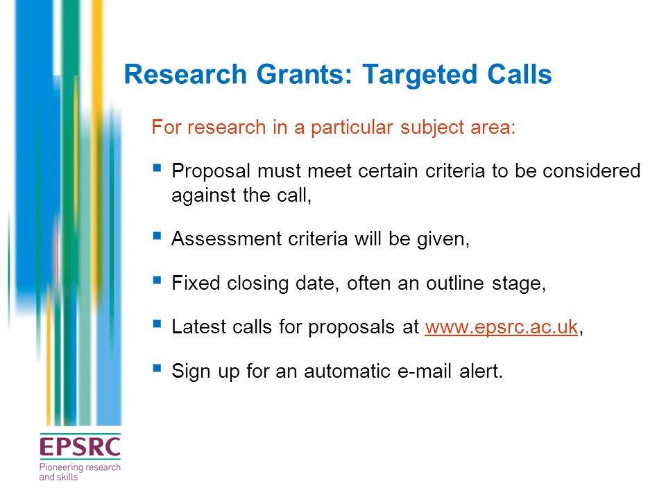 Research Grants: Targeted Calls