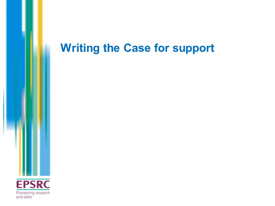 Writing the Case for support
